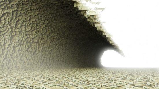 tsunami of debt